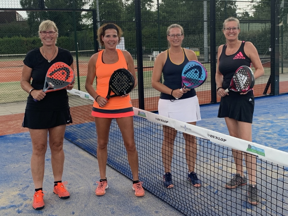 Samen met Yvonne Peeters, Brigitte Pluijmers en Nicole de Lange, augustus 2020
