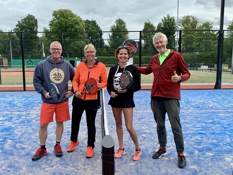 Samen Yvonne Peeters bij TPC Heiloo, met Arnt Blei en Martijn Haan